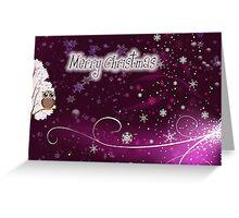 merry christmas owl Greeting Card