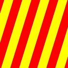 Iphone Case - Red & Yellow - Broad diagonal Stripes by chompo