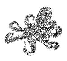 Doodle Octopus Photographic Print