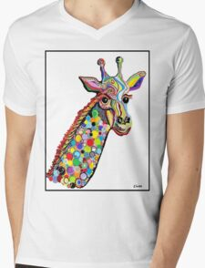 GIRAFFE Mens V-Neck T-Shirt