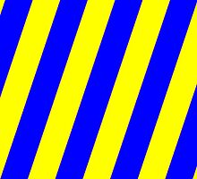 Iphone Case - Yellow & Blue - Broad diagonal Stripes by chompo