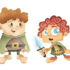 Sam & Frodo by Jeff Crowther