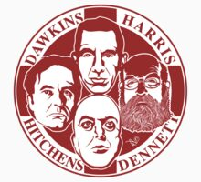 The Four Horsemen: New Atheists (Scarlet) by TAIs TEEs