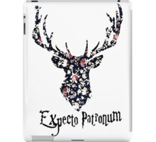 Expecto patronum floral iPad Case/Skin