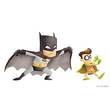Batman & Robin Photographic Print