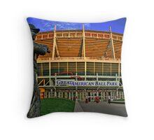 Great American Ballpark Throw Pillow
