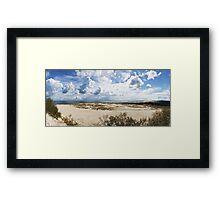 Seascape panorama Framed Print