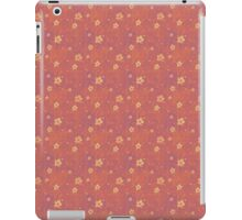 Grungy Hearts and Flowers on Pink iPad Case/Skin