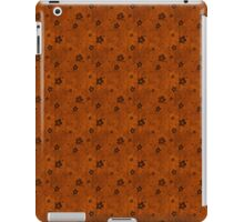 Grungy Hearts and Flowers on Orange iPad Case/Skin