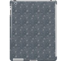 Grungy Hearts and Flowers on Gray iPad Case/Skin