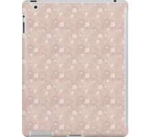 Grungy Hearts and Flowers in Faded Pink iPad Case/Skin