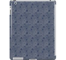 Grungy Hearts and Flowers in Blue iPad Case/Skin