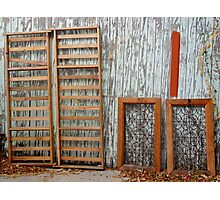 Frames against wall Photographic Print