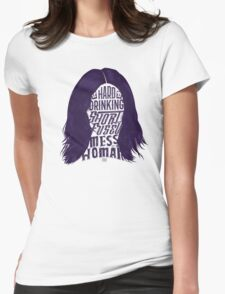 Mess of A Woman Womens Fitted T-Shirt