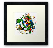 Super Mario World Planet. Framed Print