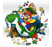 Super Mario World Planet. Poster