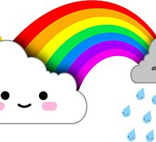 Super Cute Clouds and Rainbow by robotface