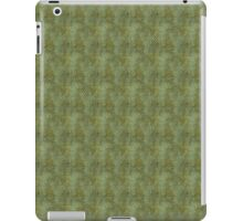Grungy Dark Green Scallops iPad Case/Skin