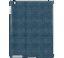 Grungy Blue Diamond Pattern iPad Case/Skin