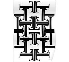 Typographic Continuum IXa - Times New Roman Poster