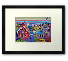 Entrance to the Parc Guell, Barcelona Framed Print