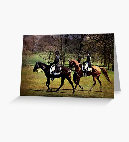 Dressage Pair Greeting Card