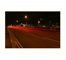Belfast traffic at night Art Print