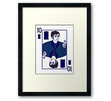 Ten of Tardis - Dark Blue Framed Print