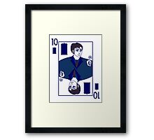 Ten of Tardis - Dark Blue Framed Print