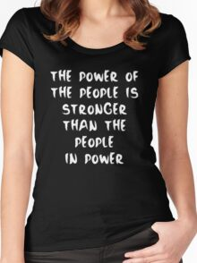 Power to the People - Inverse Women's Fitted Scoop T-Shirt