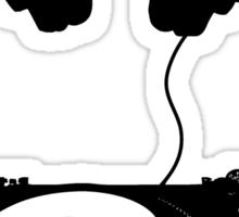 dj black Sticker