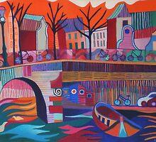 Amsterdam, view from Melkmeisjesbruggetje by Liz Allen