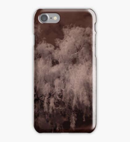 Weeping Willow In Infrared iPhone Case/Skin