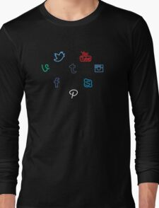 I Heart Social Media Long Sleeve T-Shirt