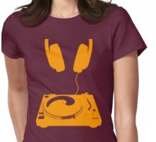 dj orange Womens Fitted T-Shirt