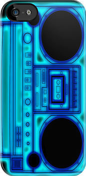 Blue Boombox by HighDesign