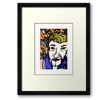 La La La i sing a song with u Framed Print