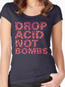 drop acid.. not bombs Women's Fitted Scoop T-Shirt