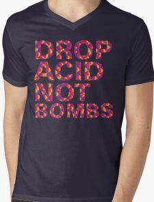 drop acid.. not bombs Mens V-Neck T-Shirt
