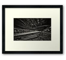 a dream about the train Framed Print