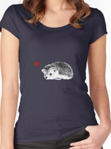 Hedgehog love Women's Fitted Scoop T-Shirt