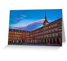 Spain. Madrid. Plaza Mayor. Greeting Card