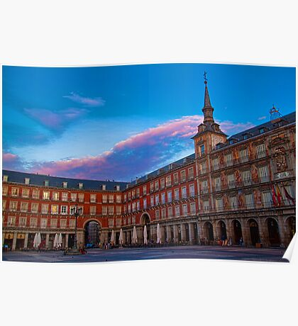 Spain. Madrid. Plaza Mayor. Poster