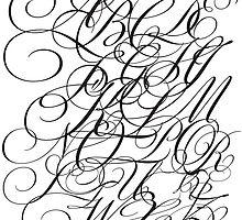 Typographic Continuum IV - Bickham Script Alphabet by Jeff Batt