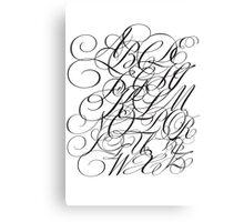 Typographic Continuum IV - Bickham Script Alphabet Canvas Print