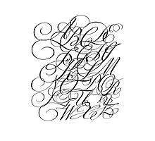 Typographic Continuum IV - Bickham Script Alphabet Photographic Print