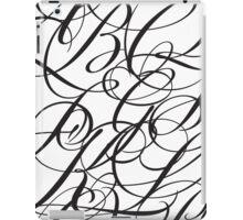 Typographic Continuum IV - Bickham Script Alphabet iPad Case/Skin