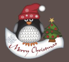 Cute Christmas Penguin One Piece - Short Sleeve