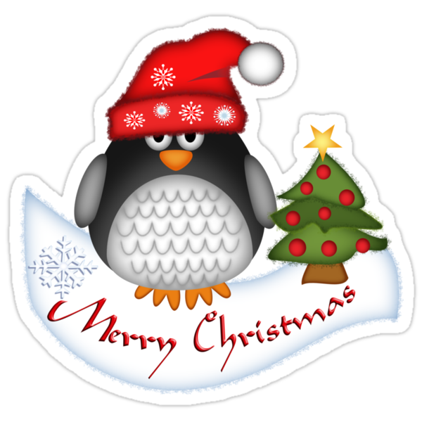 Cute Christmas Penguin by walstraasart