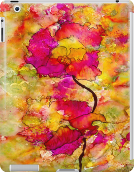 Floral Duet - iPad Cover by © Angela L Walker